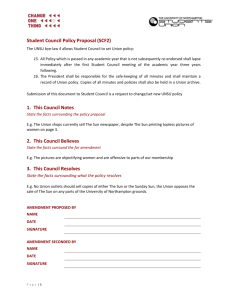 Student Council Policy Proposal (SCF2)