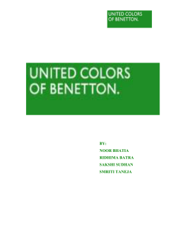 UNITED COLORS OF BENETTON ECONOMICS FINAL GROUP 3
