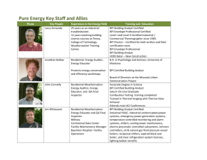 Pure Energy Key Staff and Allies