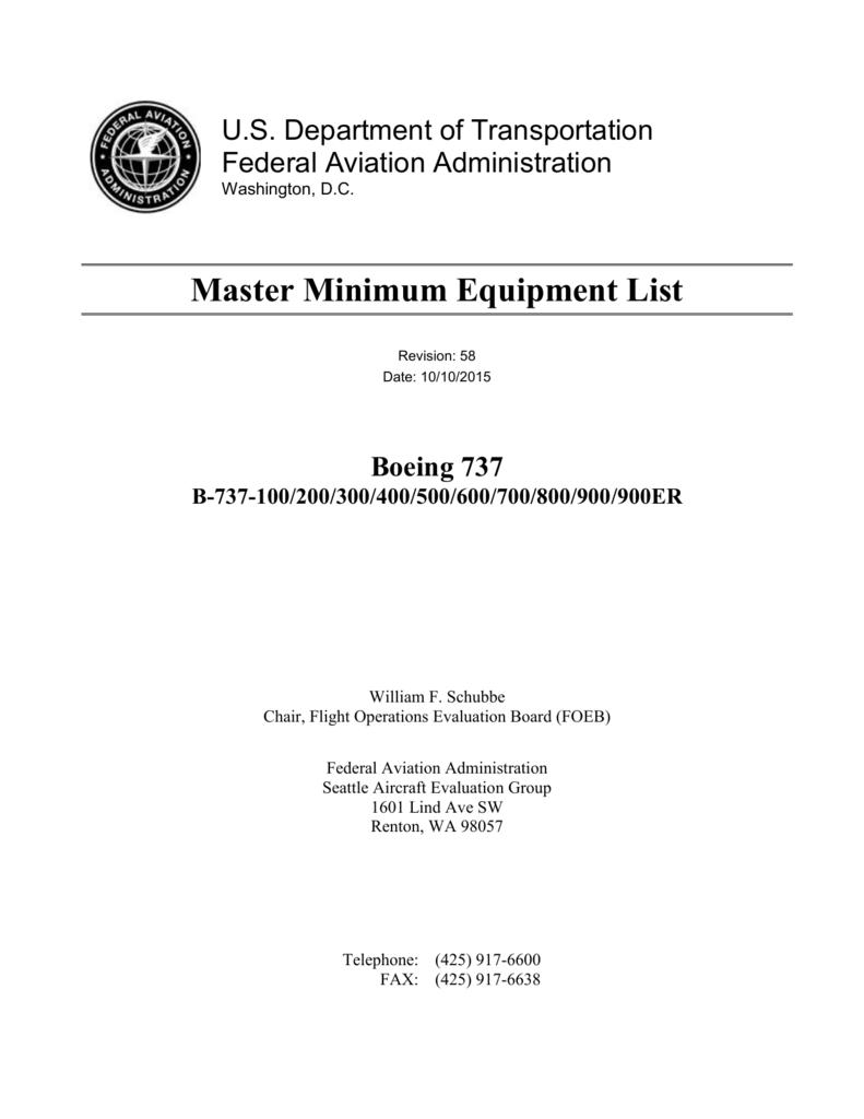 U S  Department of Transportation Federal Aviation Administration