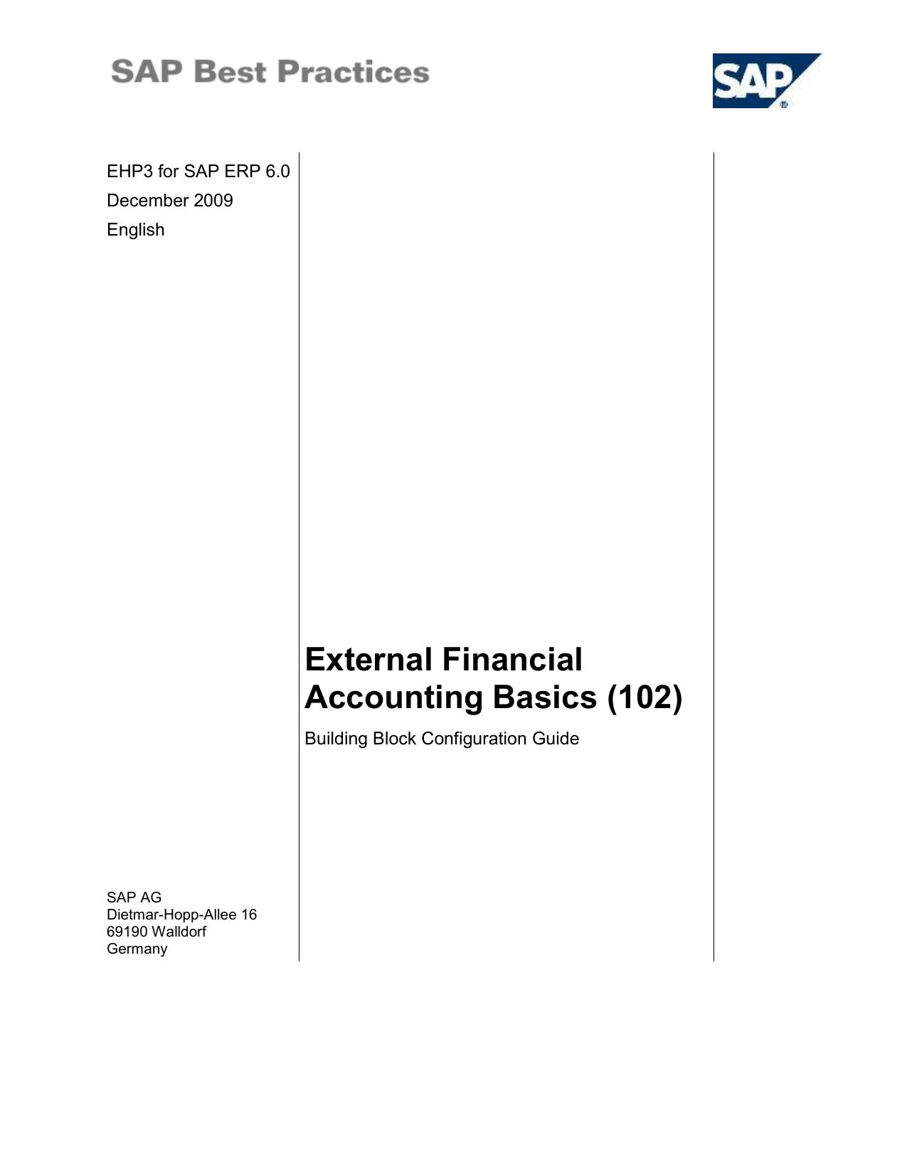 External Financial Accounting Basics
