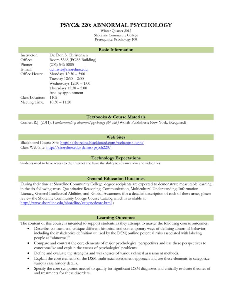 Additional Campus Resources - Shoreline Community College
