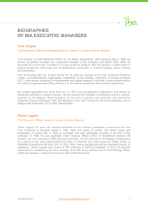 Biographies of IBA executive managers