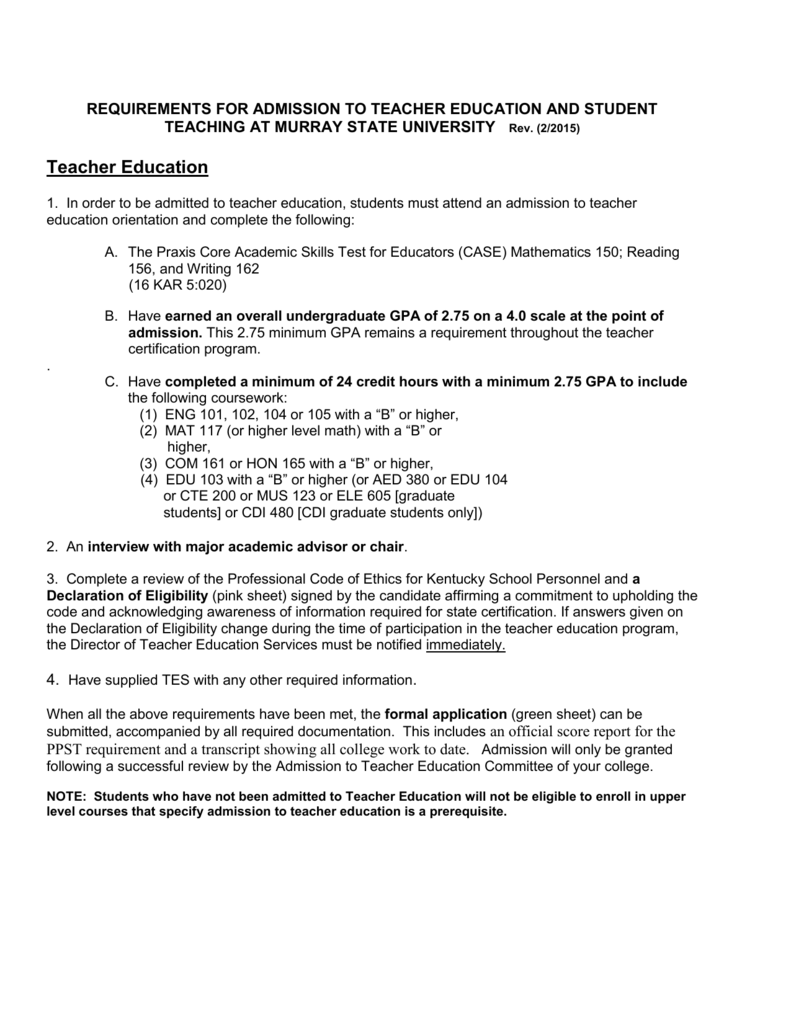 teacher certification admission essay Real sample essays for your college application video transcript discover real essay questions for top universities students will learn sample questions from the 2006 common application used by.