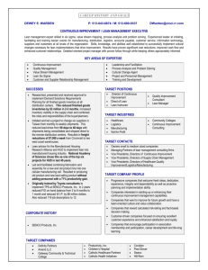 Sample Solo Sheet - Job Search Learning Labs