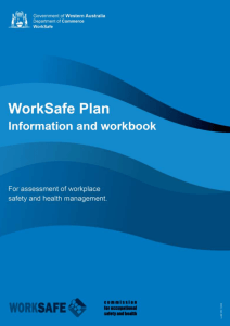 worksafe plan - Department of Commerce