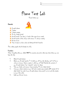 Lab Report - Flame Test