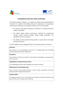 Evaluation Form for Class Activities