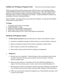 medication management progress notes