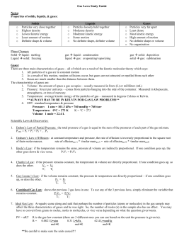 Worksheet Chapter 14 The Behavior Of Gases Worksheet Answers chapter 14 gases gas laws study guide