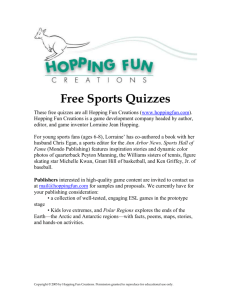 Sports Feat or Fiction - Hopping Fun Creations