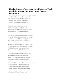 Elegiac Stanzas Suggested by a Picture of Peele Castle in a Storm