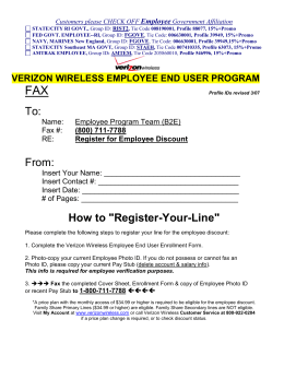 Employee User Enrollment Form