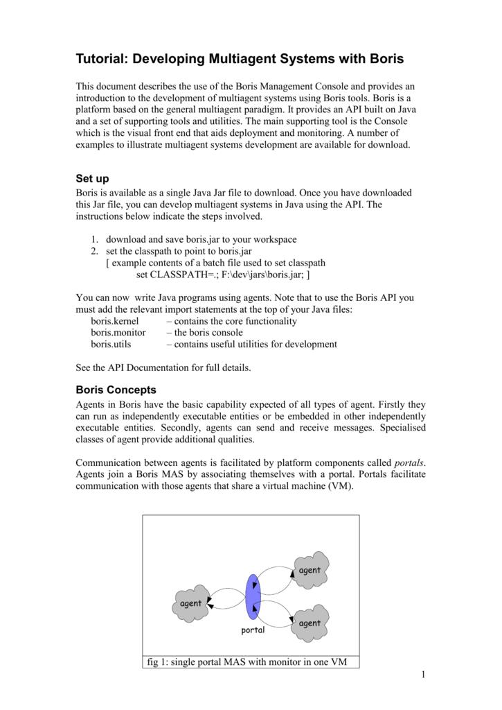 a tutorial guide to the Boris IDE