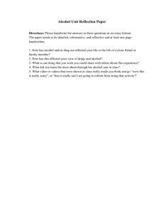 Alcohol Reflection Paper