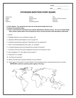 PATHOGEN INFECTION STORY BOARD