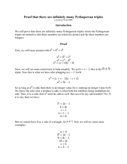 Worksheets Pythagorean Triples Worksheet pythagorean triples worksheet i triples