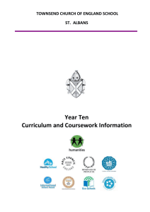 Year 10 Curriculum Booklet