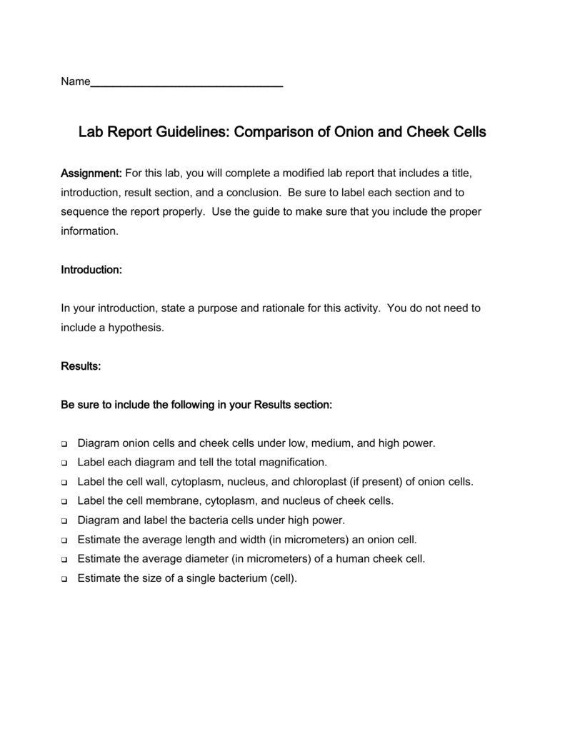 Assignments comparison of onion and cheek cells ccuart