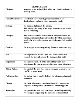 Short story unit drama terms filled in ccuart Images