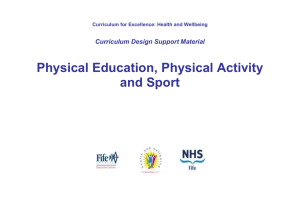 Physical Education, Physical Activity and Sport