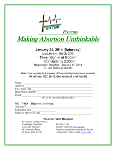 """Making Abortion Unthinkable"" Workshop at Concordia Seminary"