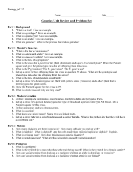 Sex-linked Traits Worksheet