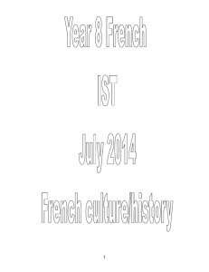 Year 8 French summer term 2014