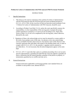 NSW UCPR Form 112 (version 2) - Probate (grant)