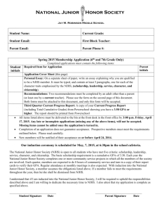 2015 6th and 7th grade application form