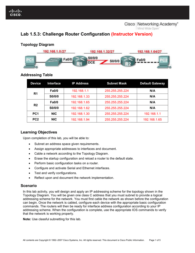ccna packet tracer lab exercises