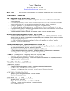 Fanny F. Feminist's Resume - University of Wisconsin–Madison