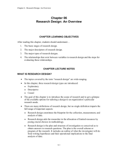 What is Research Design?