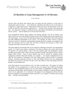 Practice Resources - 25 Benefits of Case Management in 40 Minutes