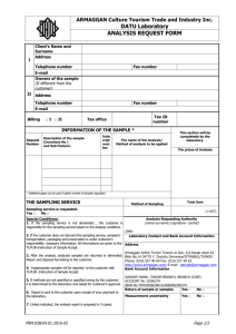 Analysis Request Form
