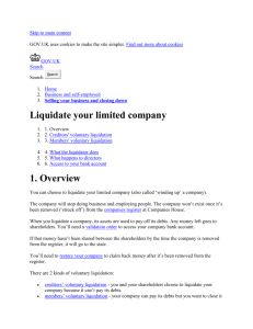 Liquidate your limited company