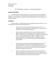 The Walt Disney Company – Revenue Recognition