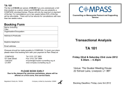 Transactional Analysis Booking Form