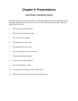 easy impromptu speech topics
