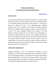 Participant Observation and Action Research