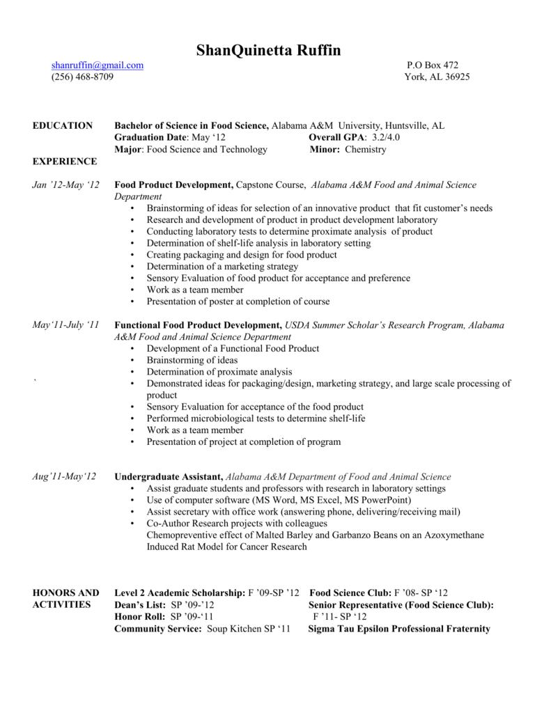 resume - Alabama A&M University