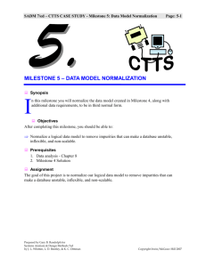 Case Study CTTS - Milestone 05 Data Model