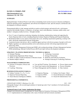 Resume for Daniel Perrin business intelligence, technical project
