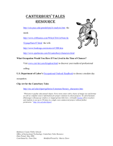 Canterbury Tales Resource - Baltimore County Public Schools