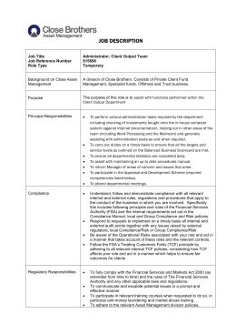 JOB DESCRIPTION Job Title Job Reference Number Role Type