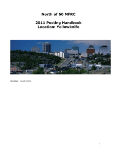 Yellowknife MFRC Posting Handbook