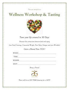 Wellness Workshop Invitation WORD
