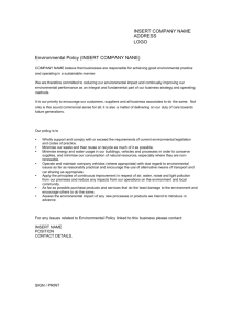 Health & Safety Policy Statement Template