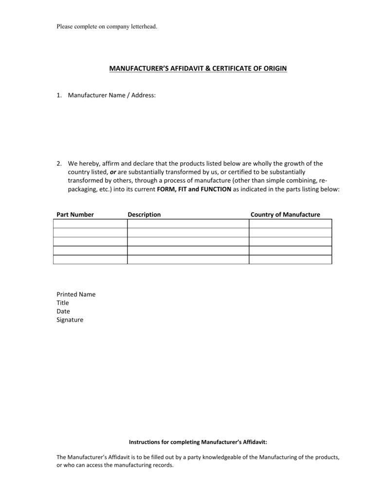 Manufacturers affidavit 1betcityfo Image collections