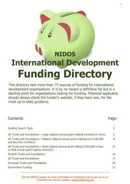 the directory - LATEST VERSION: January 2015